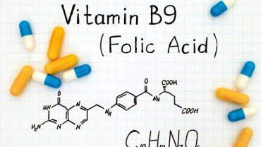 Chemical formula of Vitamin B9 (Folic Acid)