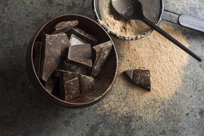dark chocolate healthy high cholesterol and fat food