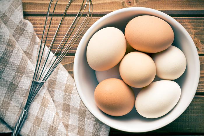 eggs on a desk