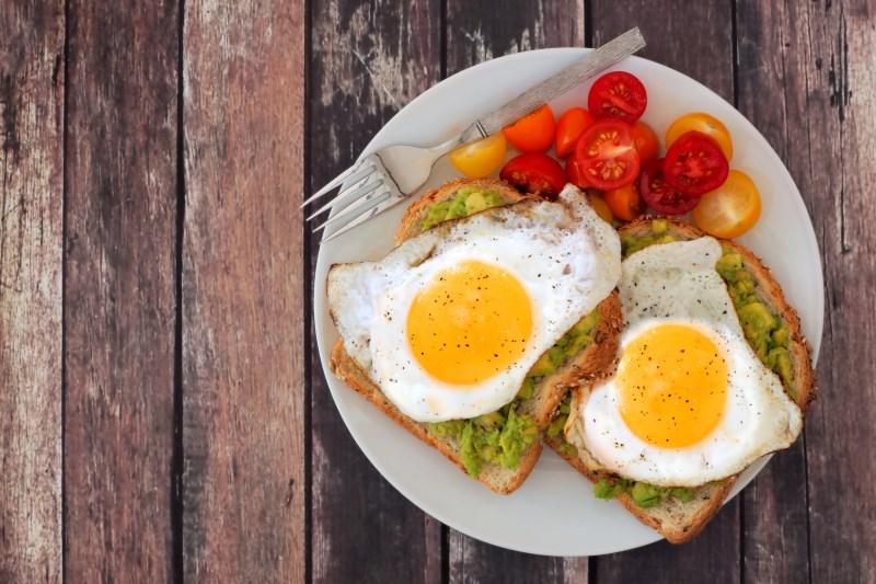healthy eggs with boast breakfast