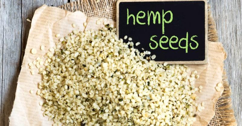 hemp-seeds-black-board