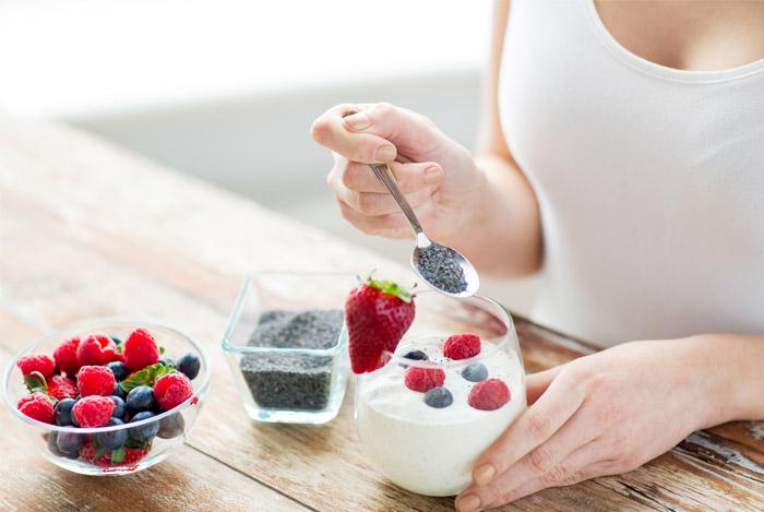 woman-eating-chia-yogurt